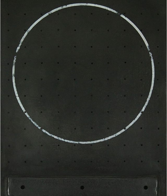 'Overcome With Silence' new #mixedmedia minimal work will be on show @theotherartfair #london this week. Please see my bio for free tickets this weekend :) #art #exhibition #weekend #brutalism #circle #artist #bloomsbury #TOAF #theotherartfairldn #theotherartfair