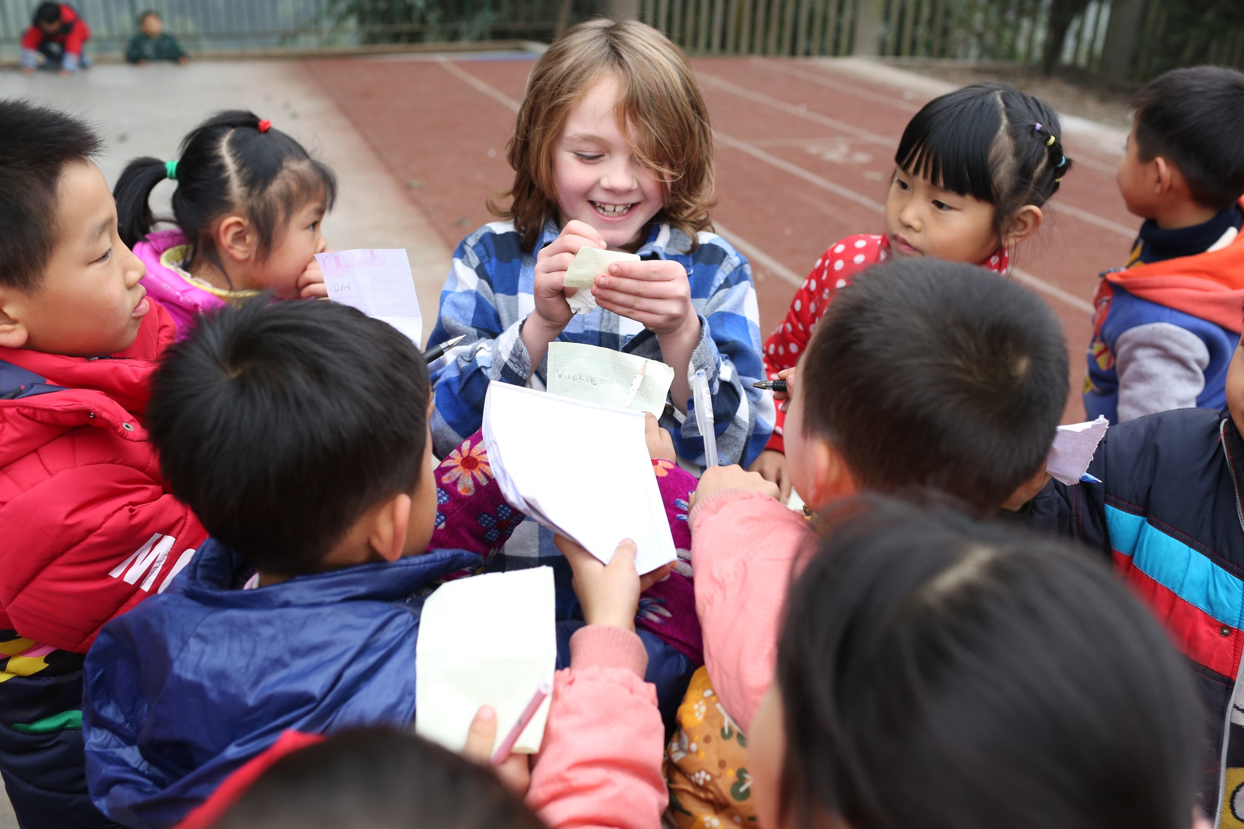 At a countryside Chinese school