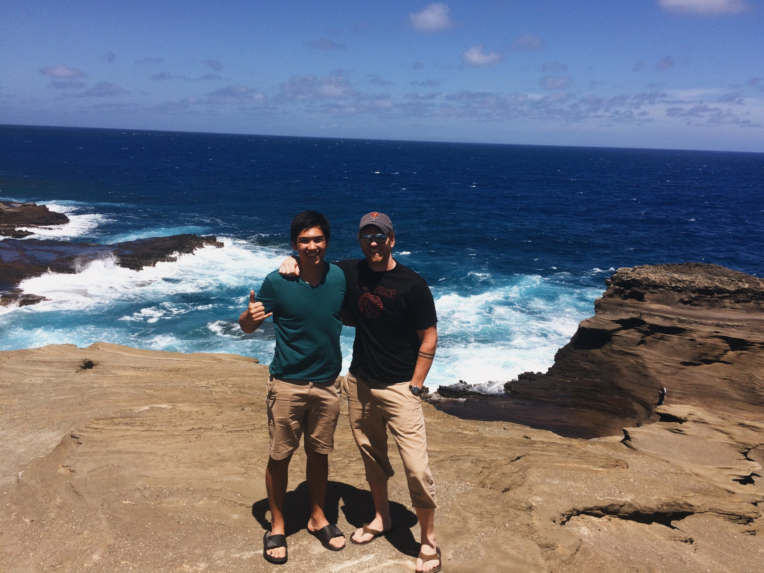 Donovan and me, when I was fortunate enough to visit him and his family in Hawaii last summer. Holy blue ocean!