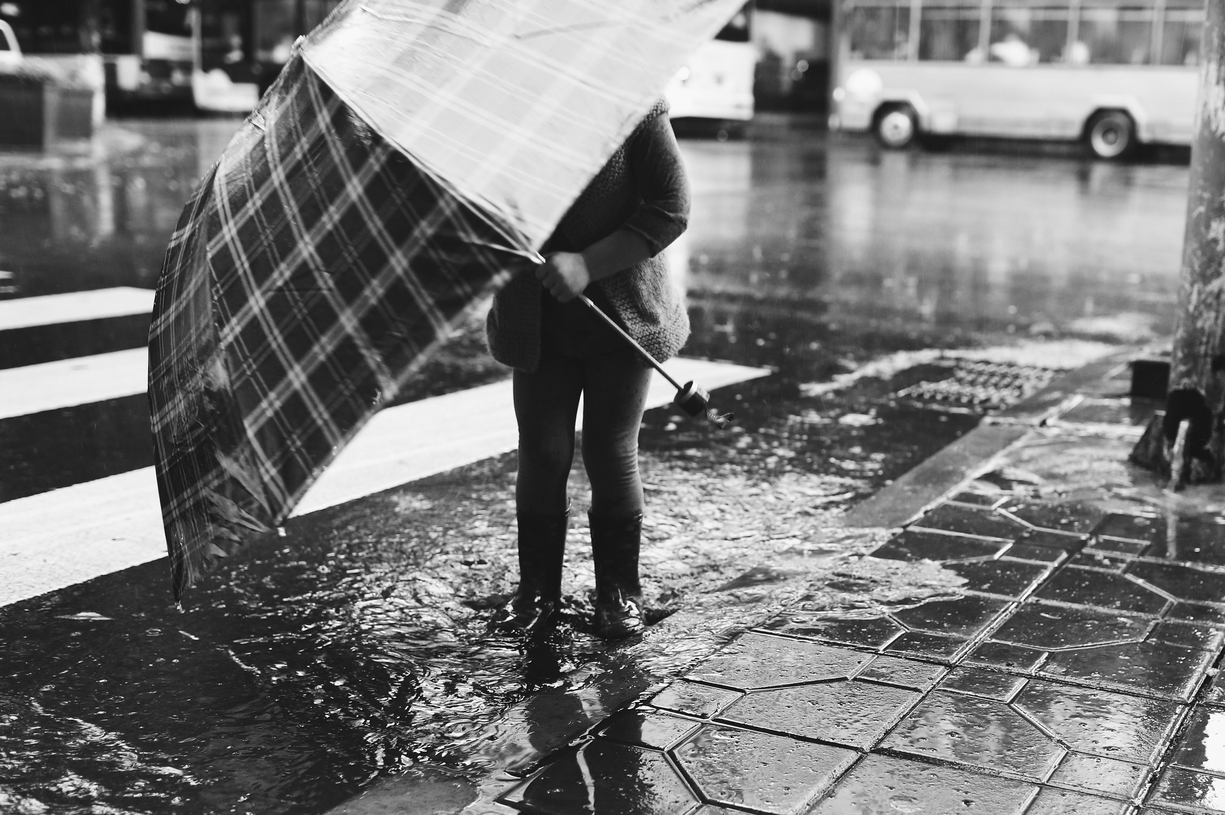 """Sometimes, when life is rainy, the best thing to do is put on rain boots and jump in puddles."""