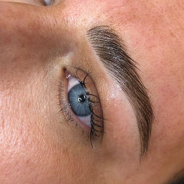 """A totally new lease on life for these thinning brows, over time as we age our brows can start to thin in density, feathering can help to rejuvenate and """"fluff up"""" your brow which in turn creates a more youthful look for your face. Apart from all of the other things that age our face a thin over plucked brow can add years to your look!!!! Email me hello@browsociete.com.au with any questions you might have or check out my website www.browsociete.com.au 🖤"""