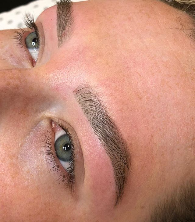 Brow Societe Brow Rehab aka brow wax & tint.. hand drawn and measured to suit each individual clients facial features, always working towards regaining fullness in the brow.