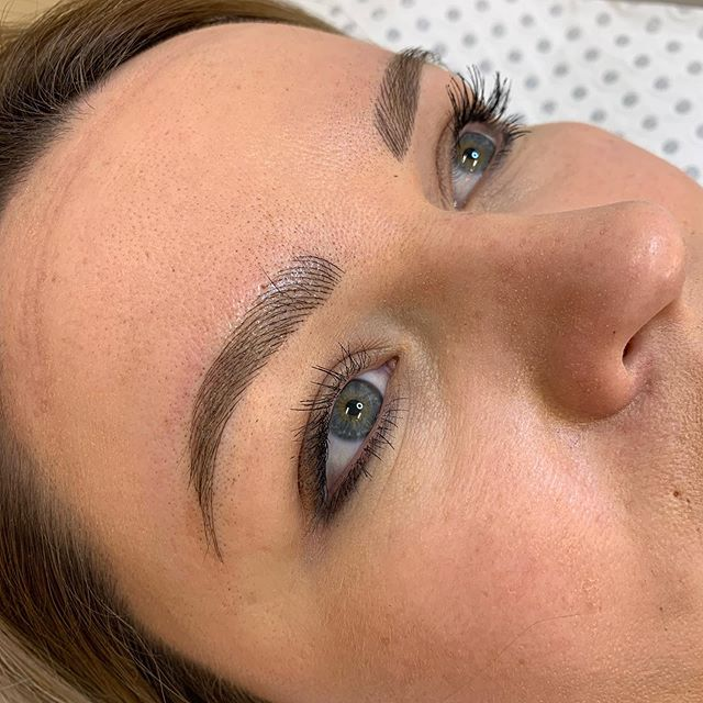 Sorry guys been MIA for a bit.. here is a pretty little set of feather brows I did today to fluff up the existing thinning brow hair, this will soften down to a light brown colour once healed and will become one with the natural hair. Last images are the before's.