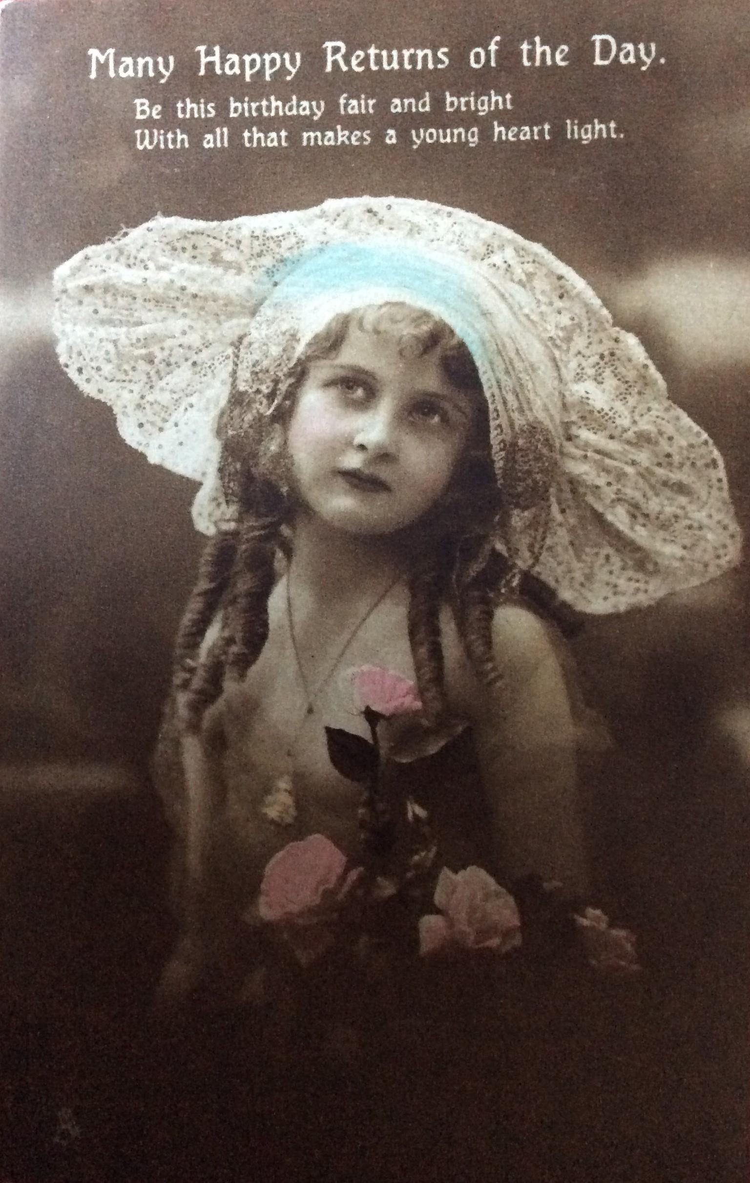 1916 Happy Birthday Laura