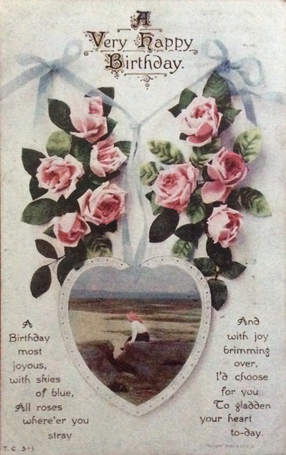 1916 A card posted to someone in the same house