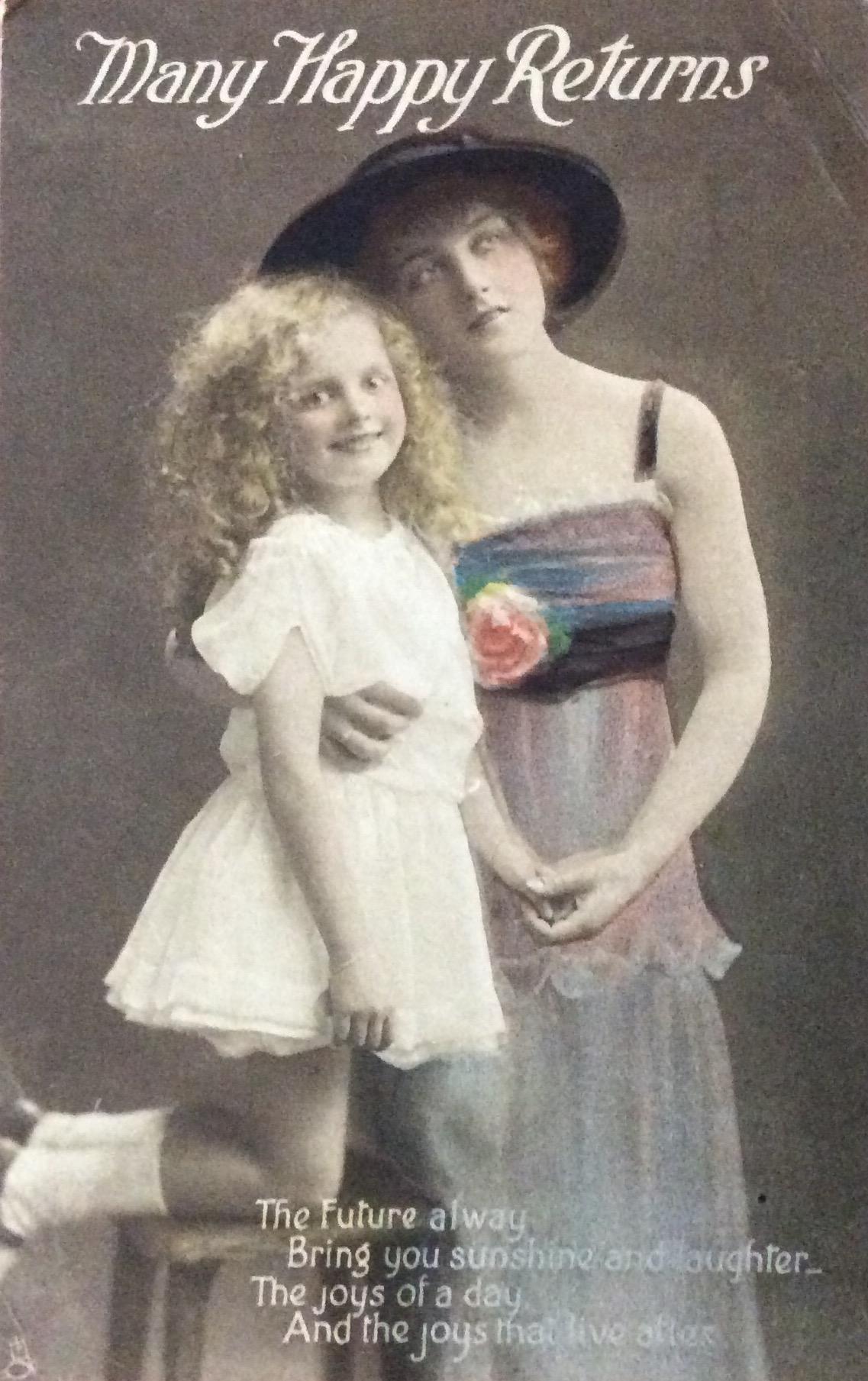 1916 Happy Birthday From Rose