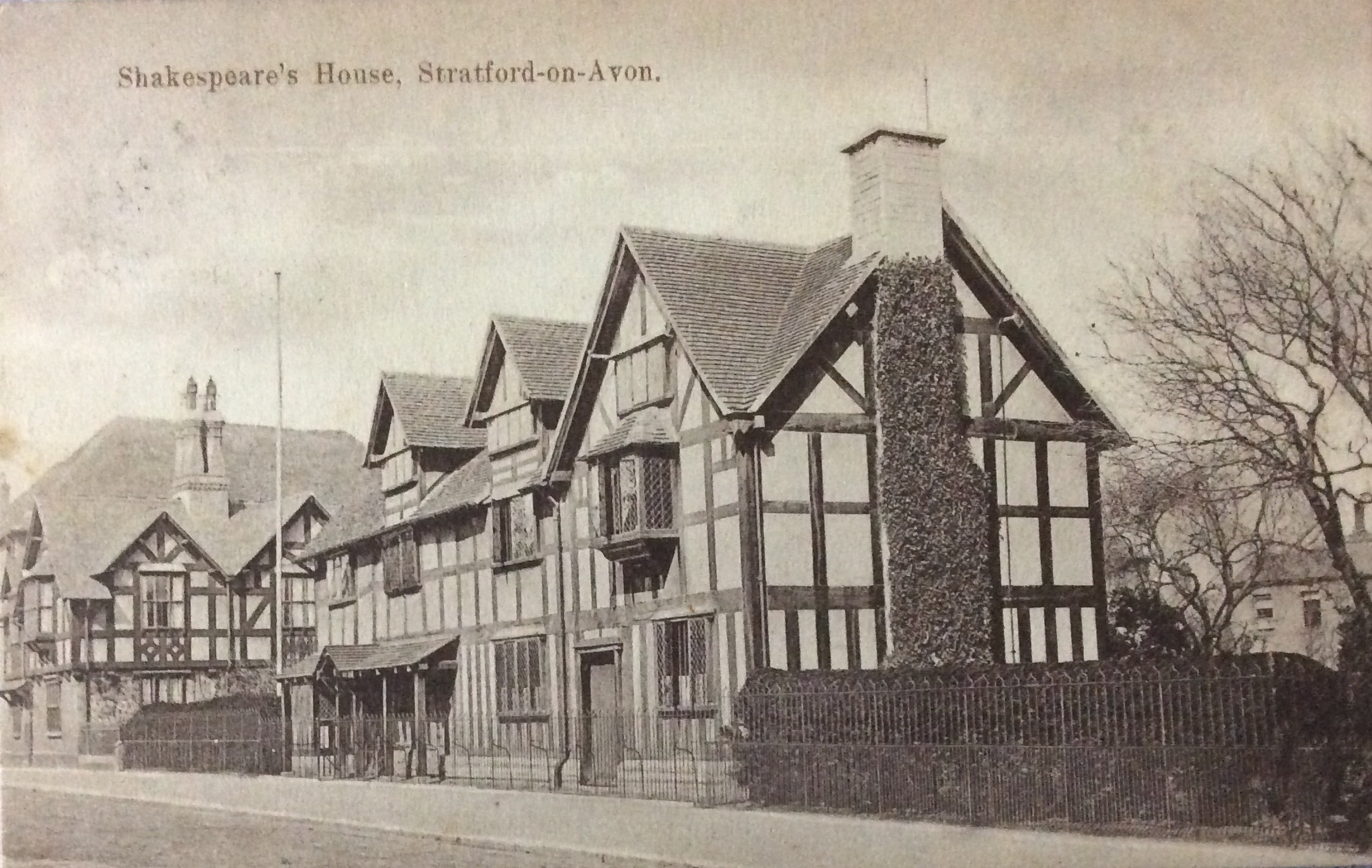 1908 Stratford-on-Avon is interesting and old