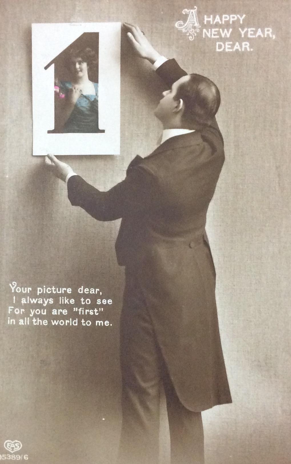 1916 January 8th Happy New Year Dear