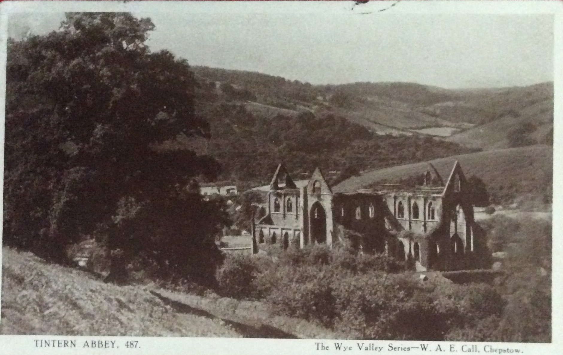 1913 August 25 Motored To Tintern Abbey