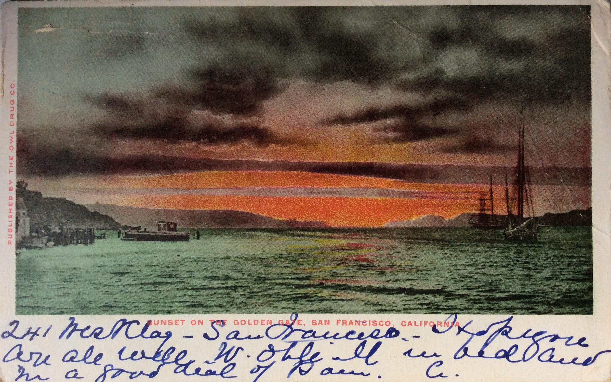 1910 February 23 San Francisco To Torquay