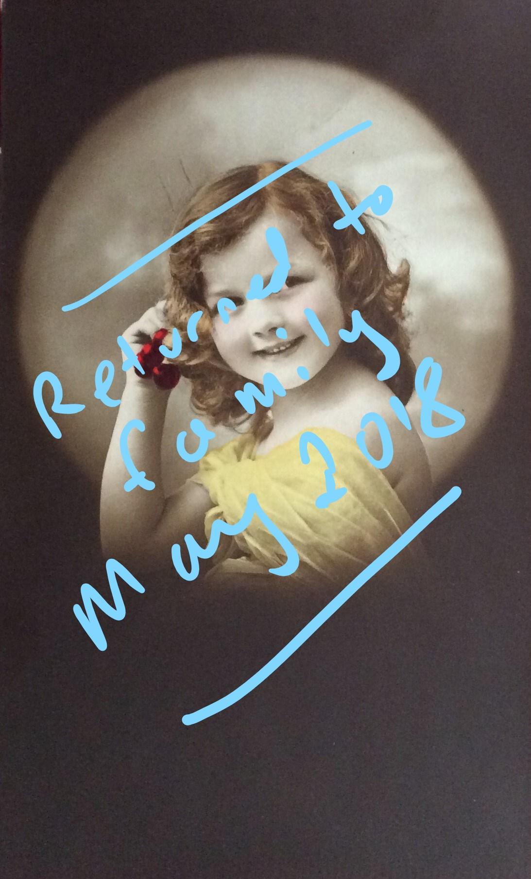 1912 September 12th Beryl Tomlinson