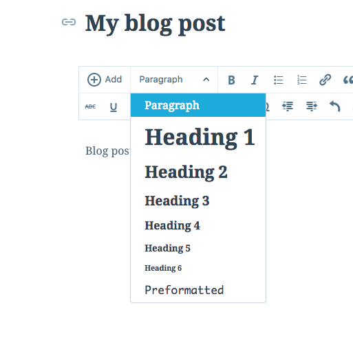 formatting your post