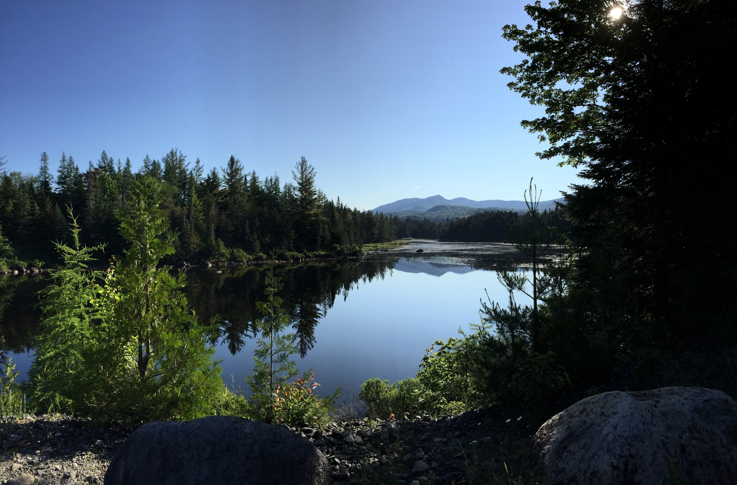 Boreas Pond outlet, one of my weekly hikes that is about 15 miles total.