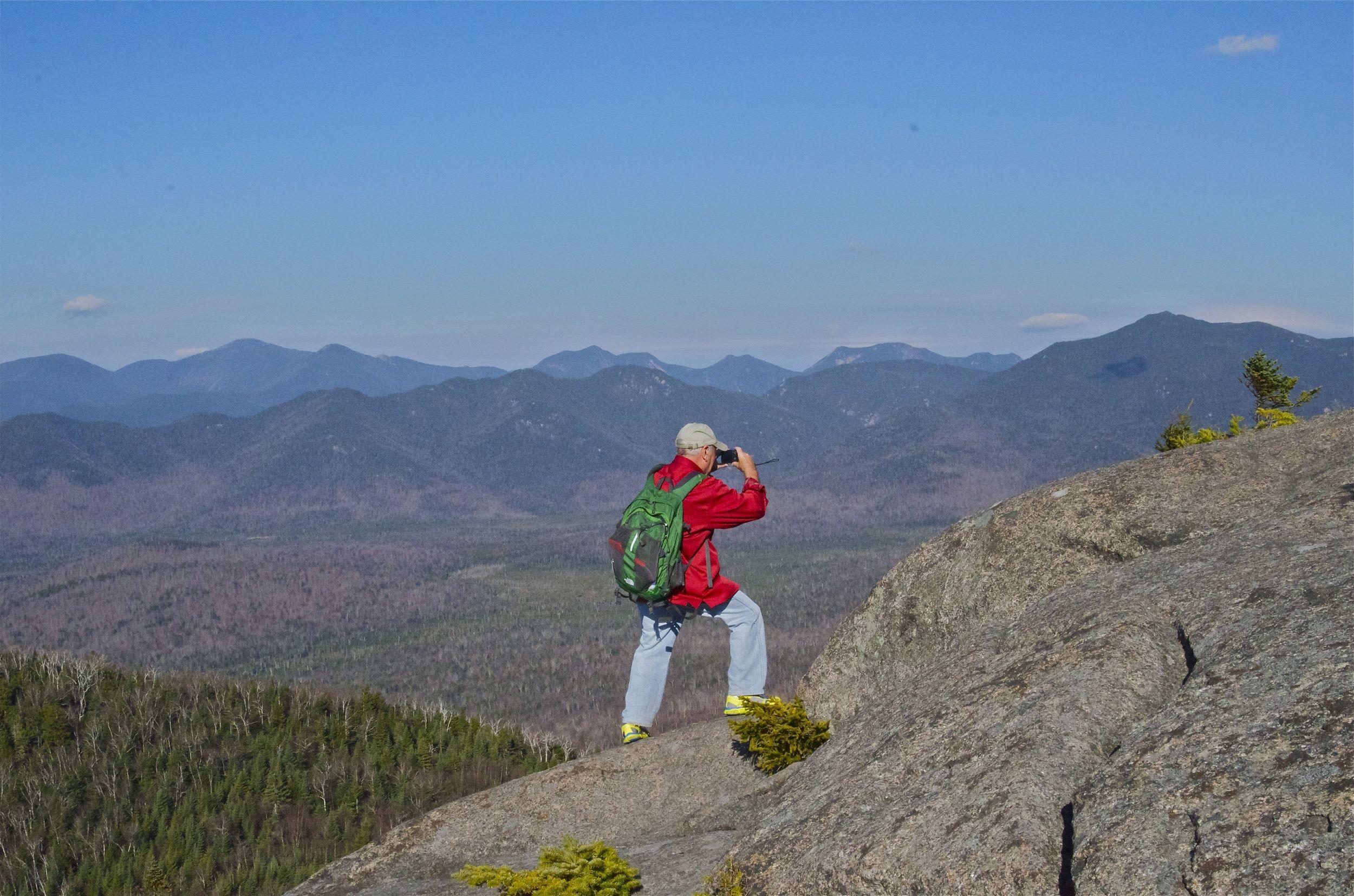 My hiking partner for ADK Hike for Hope, Dave Tart, on Sunrise Mountain.