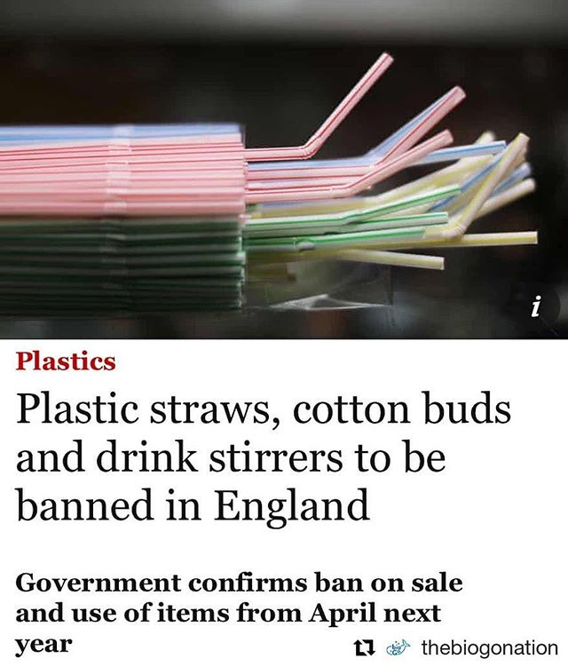 Global conservation stories:  Incredible news from England - the government is putting in measures to ban single use plastics from April 2020, starting with plastic stirrers where currently 316 million are used each year. Plastic straws and plastic cotton buds are also planned to be restricted. This is at least a good start and hopefully other countries will follow.  The environmental effects of single use plastics are so detrimental, it has come to the point we have no control over it. We must stop all single use plastics immediately. Do your part. Every little thing counts! . . . #singleuseplastic #conservation #biodiversity #nature #mothernature #saynotoplastic #england #environment  #Repost @thebiogonation (@get_repost) ・・・ Plastic straws, cotton buds and drink stirrers to be BANNED in England from April 2020 👏🌏😍⁣ ⁣ What a fantastic move, and this is only the beginning 💪🏻⁣ ⁣ #bethechange #happywednesday #saveourplanet ⁣
