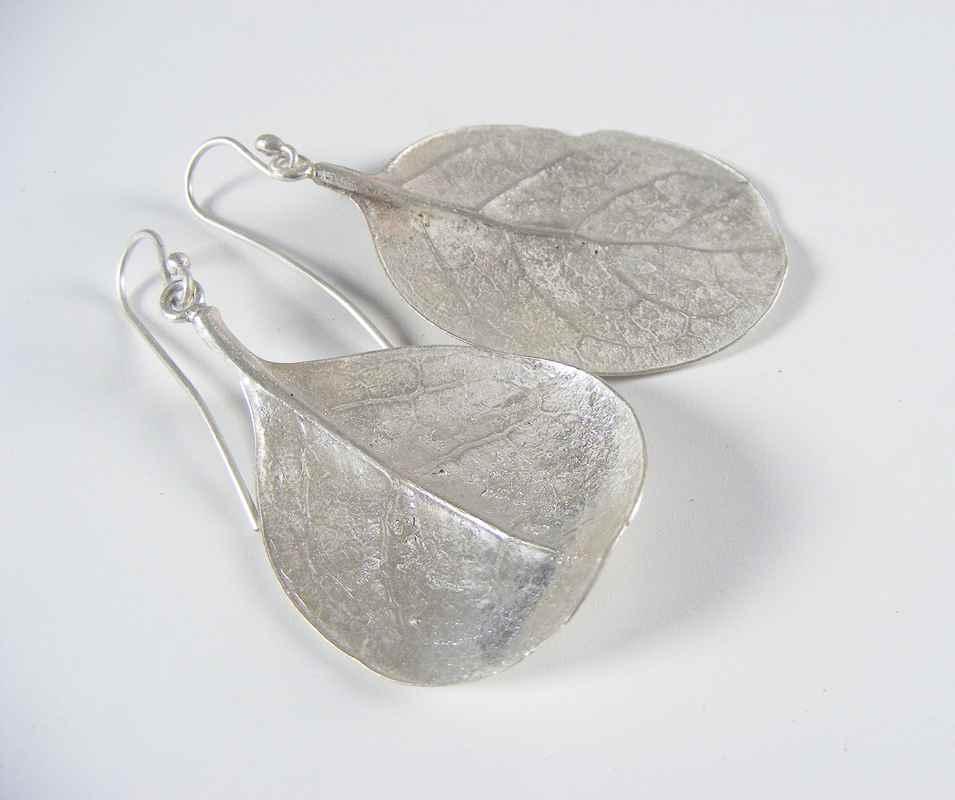Caprosma leaf earrings silverNBE008 & NBE009.jpg