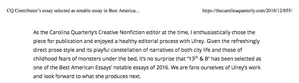 page 2 CQ Contributor's essay selected as notable essay in Best American Essays 2016 | Carolina Quarterly copy (1).jpg