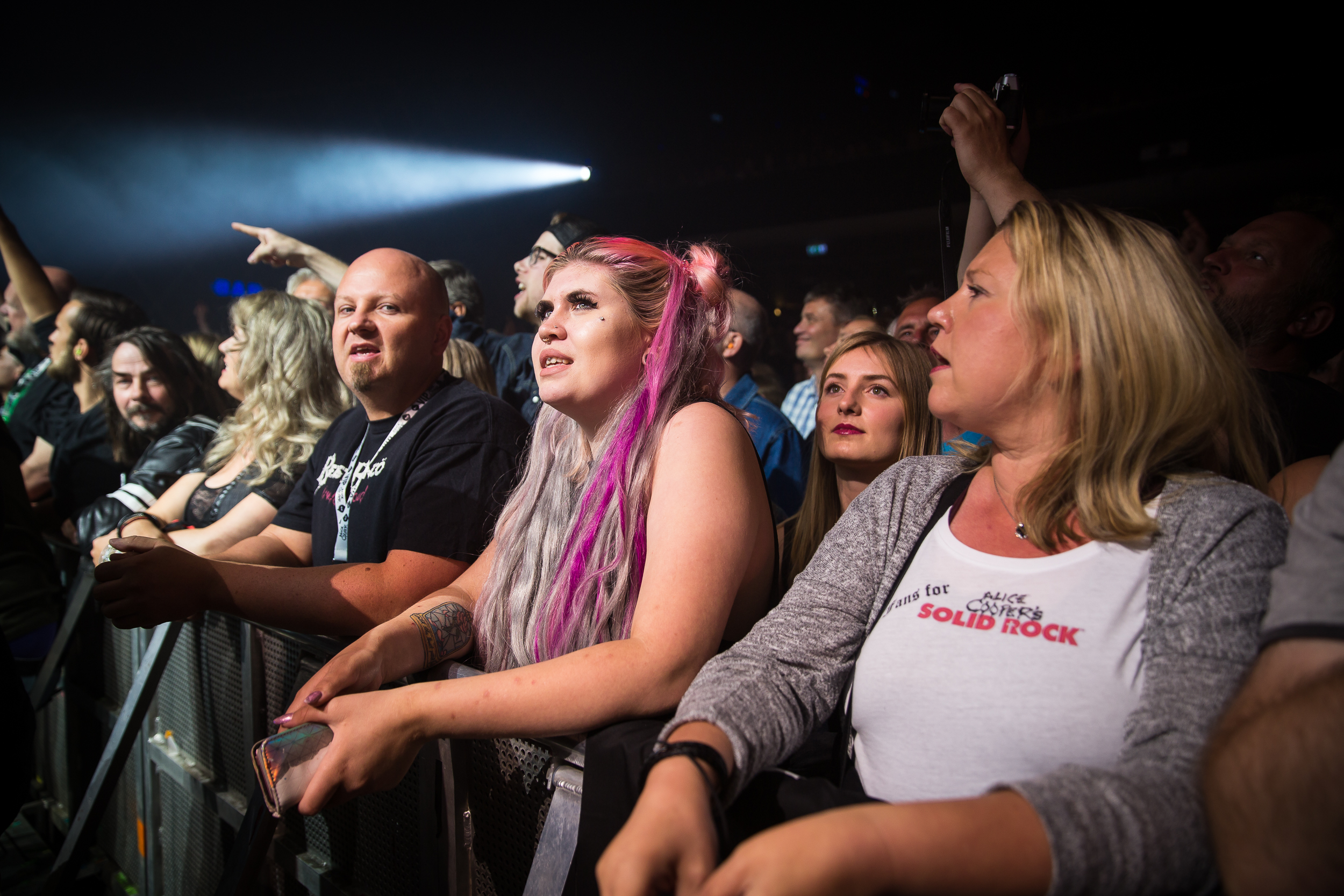 Audience at Alice Cooper's concert in Oslo