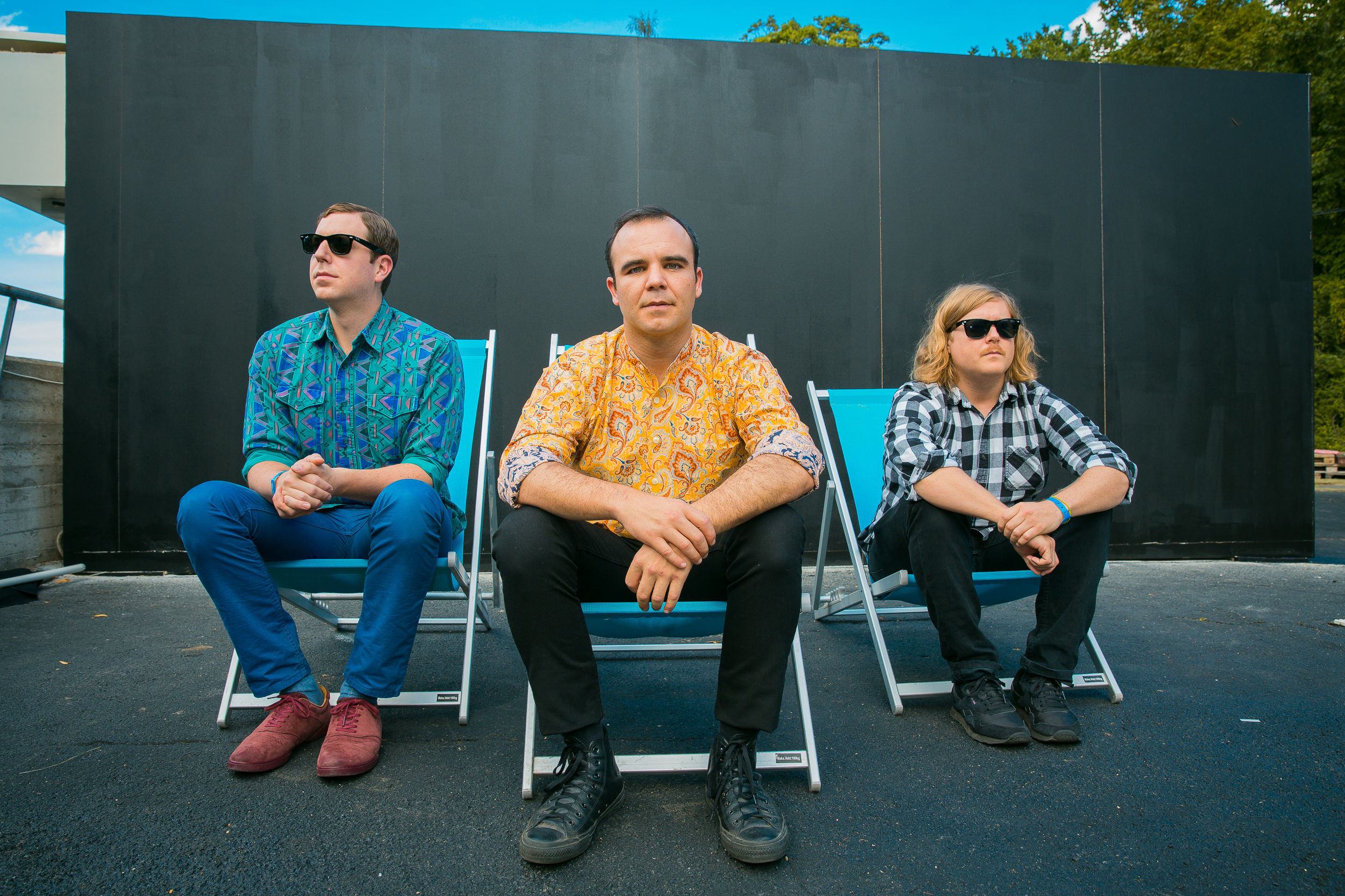Future Islands backstage at Øyafestivalen 2015, Oslo.
