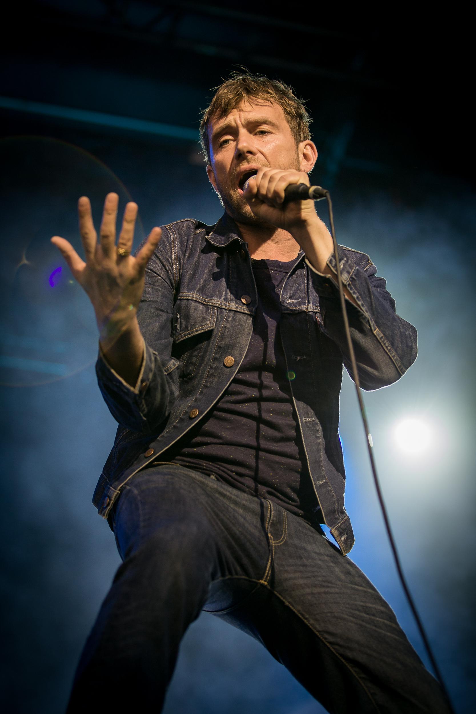 Blur live at Øyafestivalen 2013, Oslo.