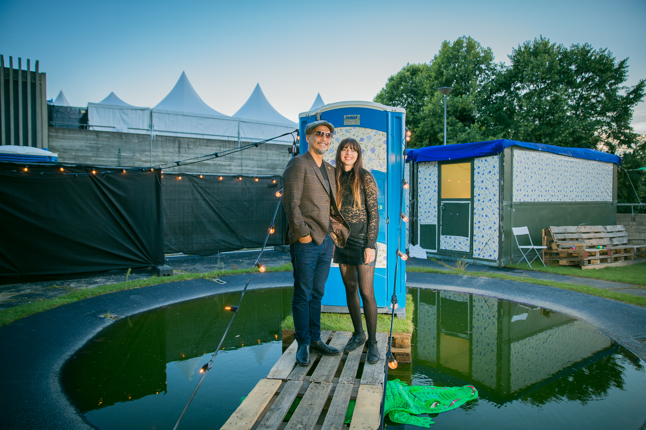 Joey Santiago and Paz Lenchantin of Pixies backstage at Øyafestivalen 2017, Oslo.