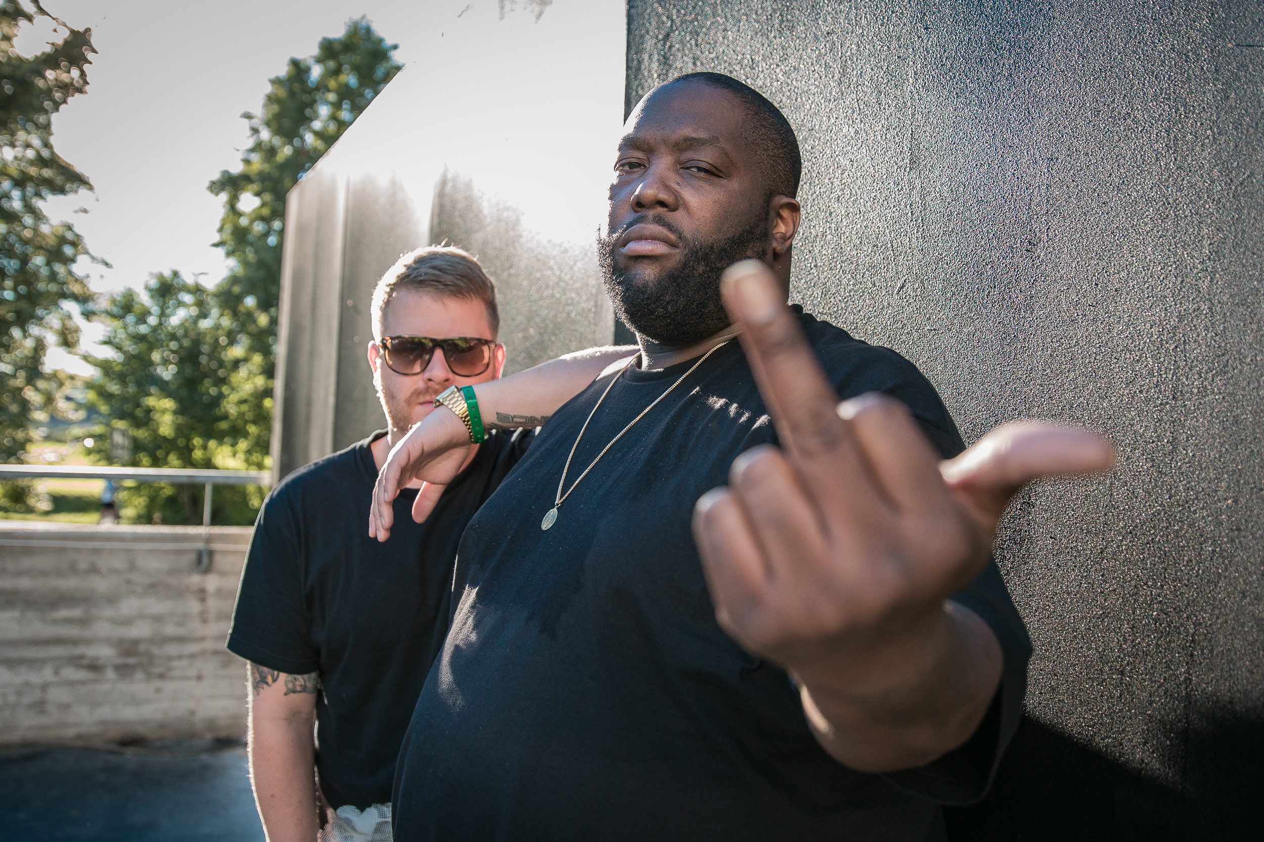 Run The Jewels backstage at Øyafestivalen 2015, Oslo.