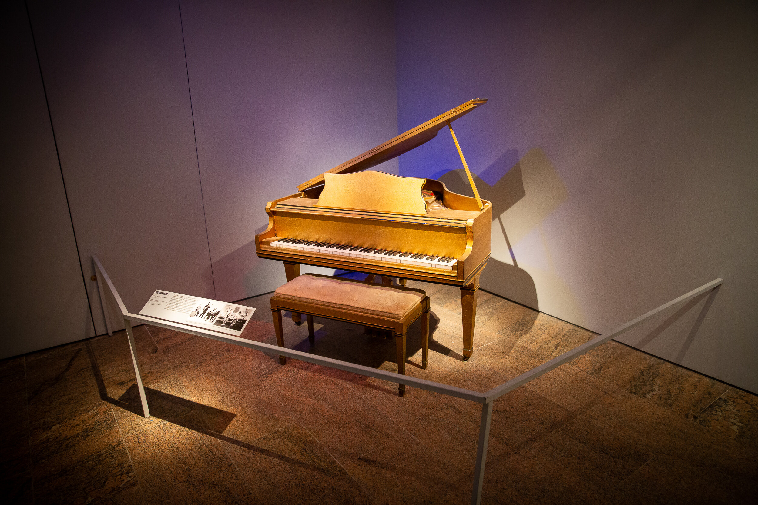 Jerry Lee Lewis' piano at The Metropolitan Museum of Art
