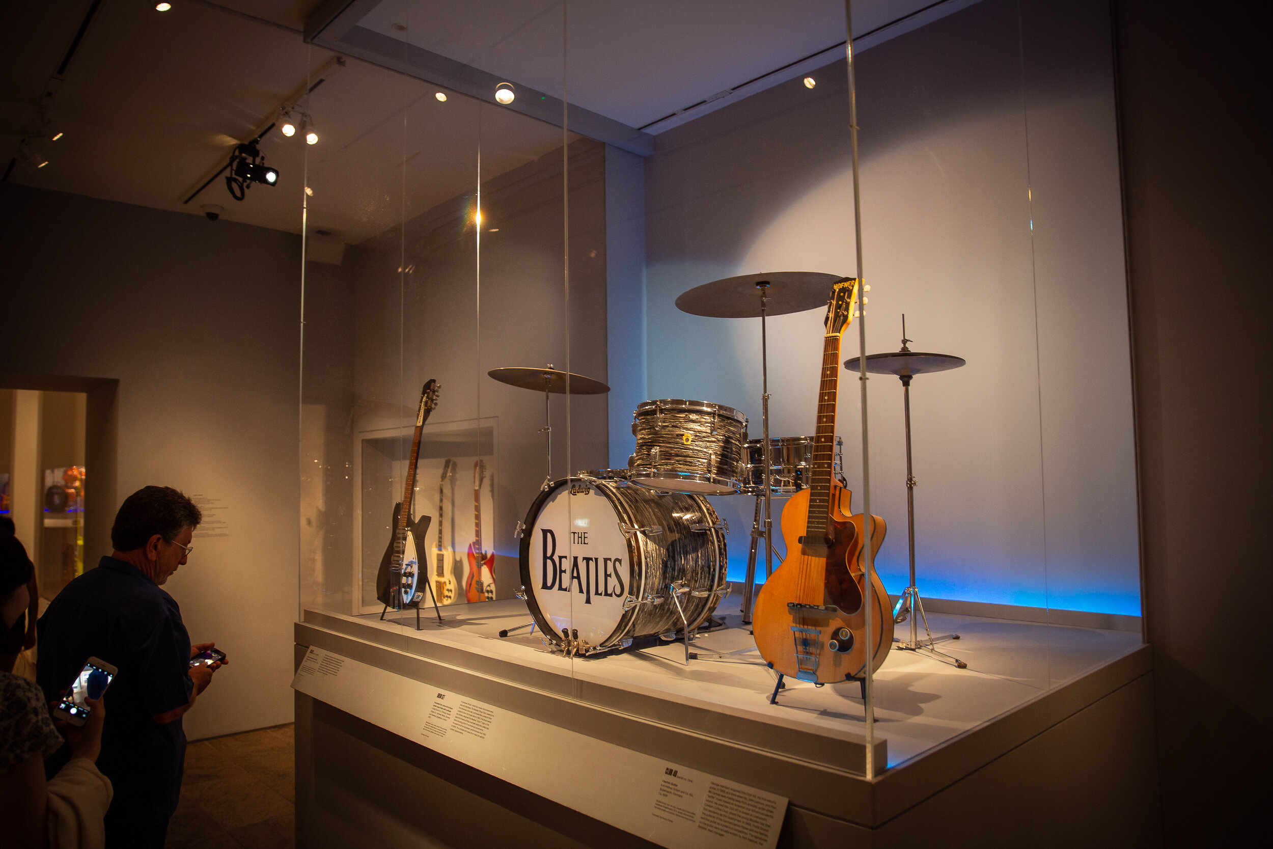 The Beatles' instruments at The Metropolitan Museum of Art
