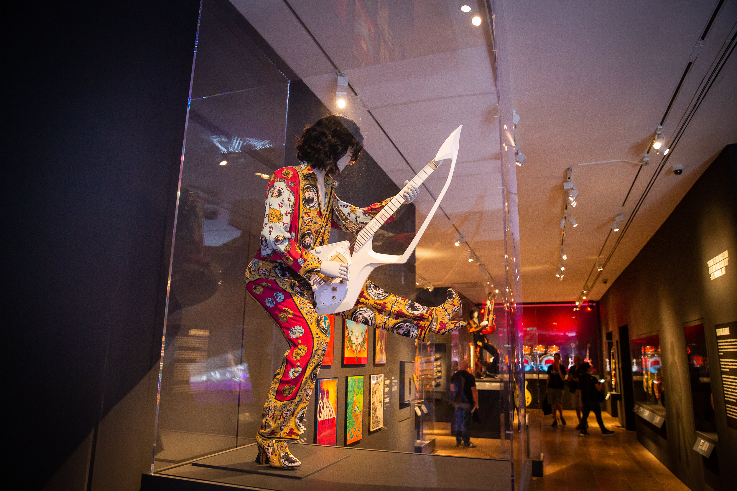 Prince's stage outfit and guitar at The Metropolitan Museum of Art
