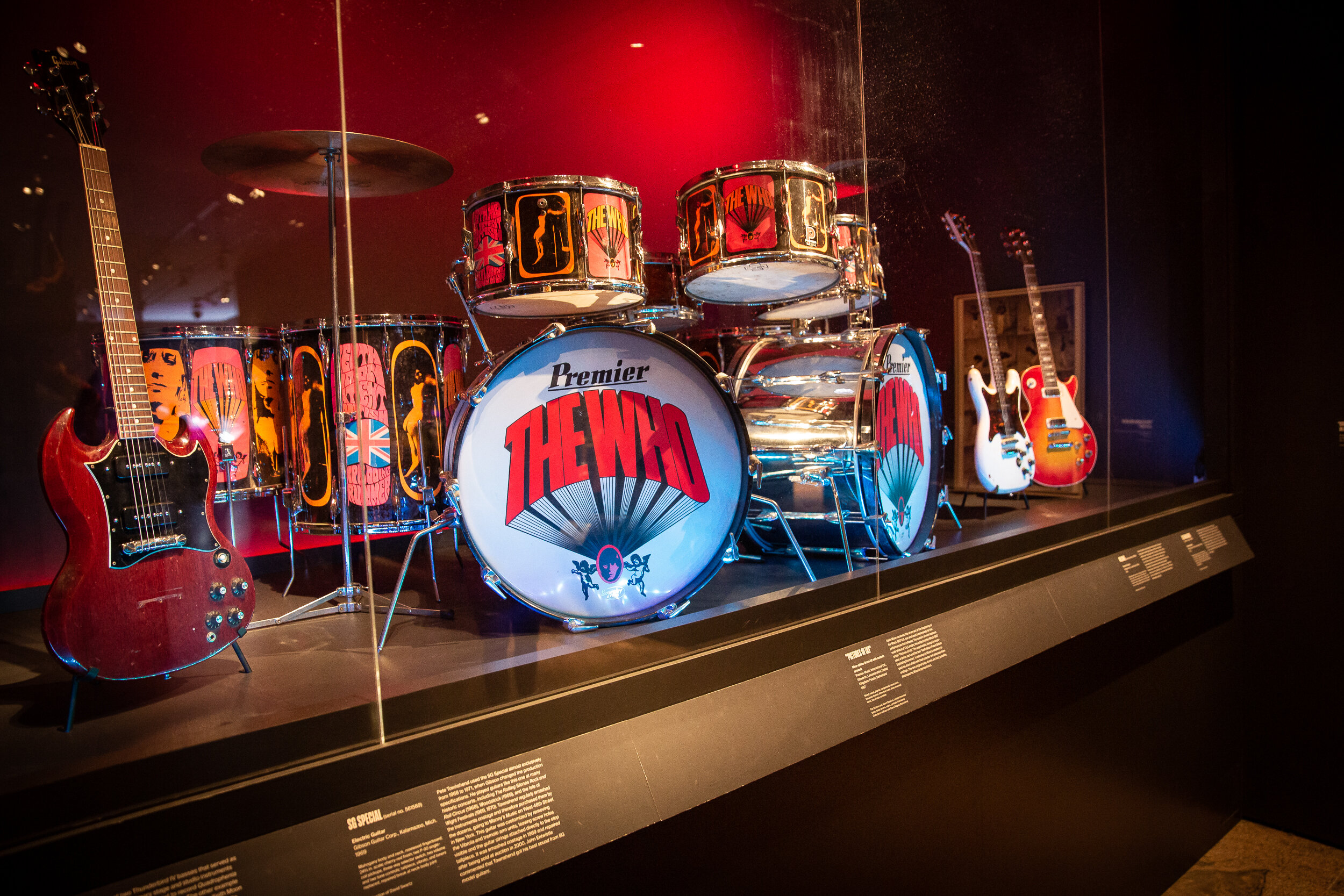 The Who drum kit at The Metropolitan Museum of Art