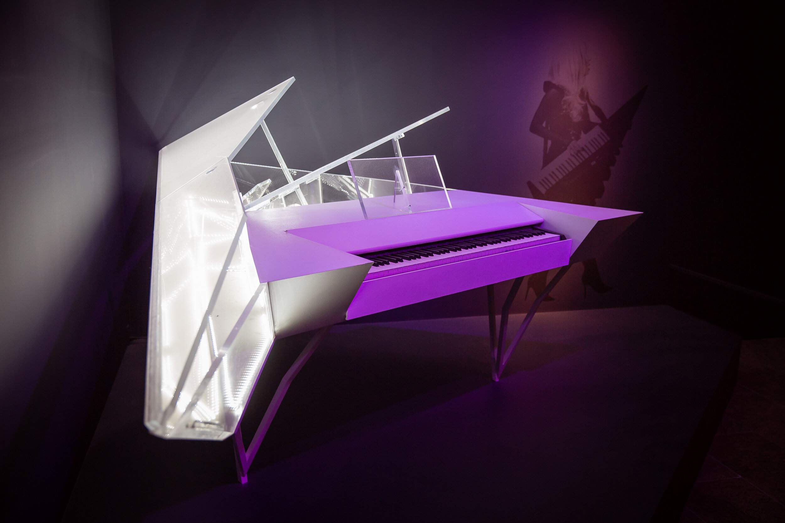 Lady Gaga's piano at The Metropolitan Museum of Art