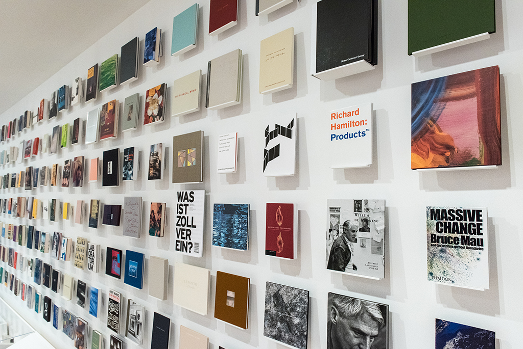 Bruce Mau Wall Of Books.