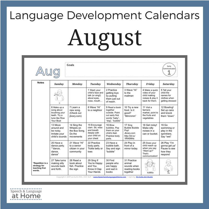 August Calendars