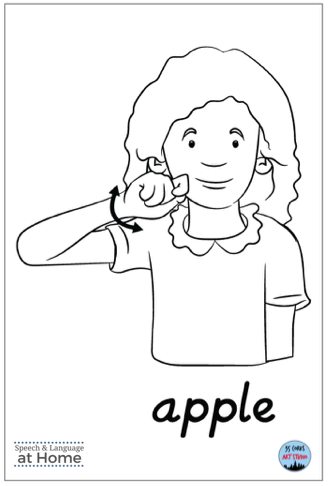 Early language parent handouts sign language apple.png