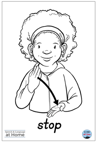 Early language parent handouts sign language stop.png