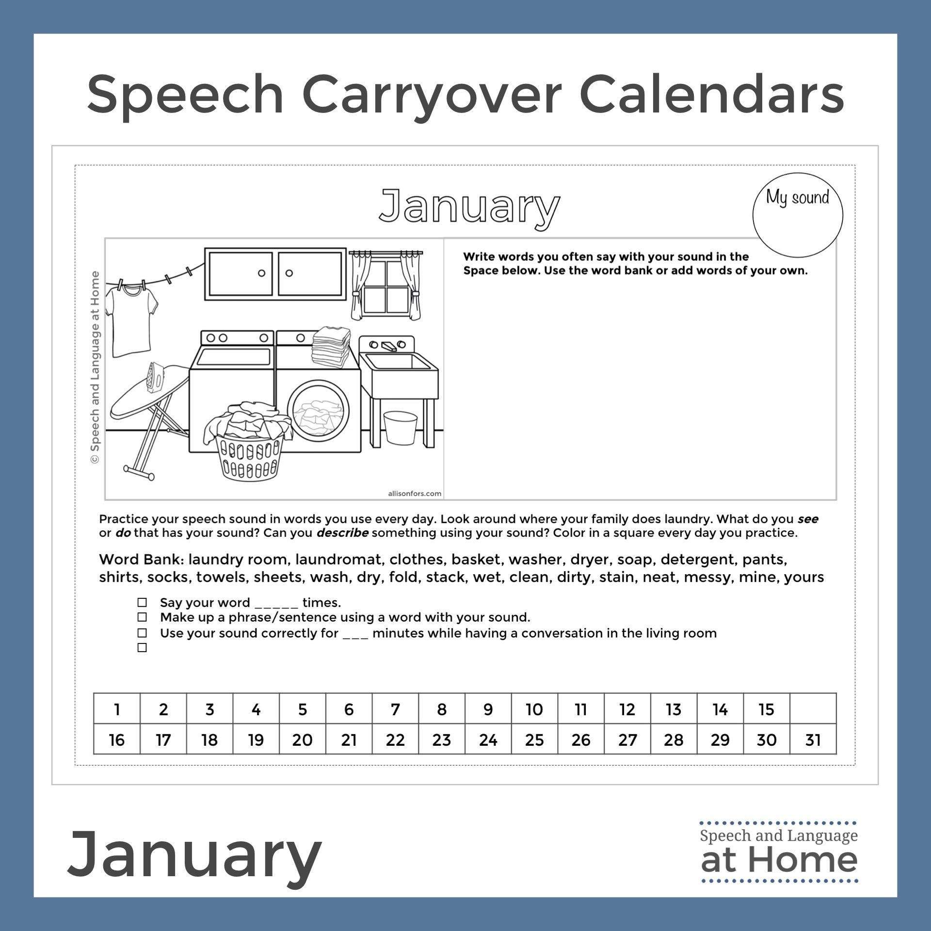 Speech Carryover Calendars Speech and Language at Home January.jpg