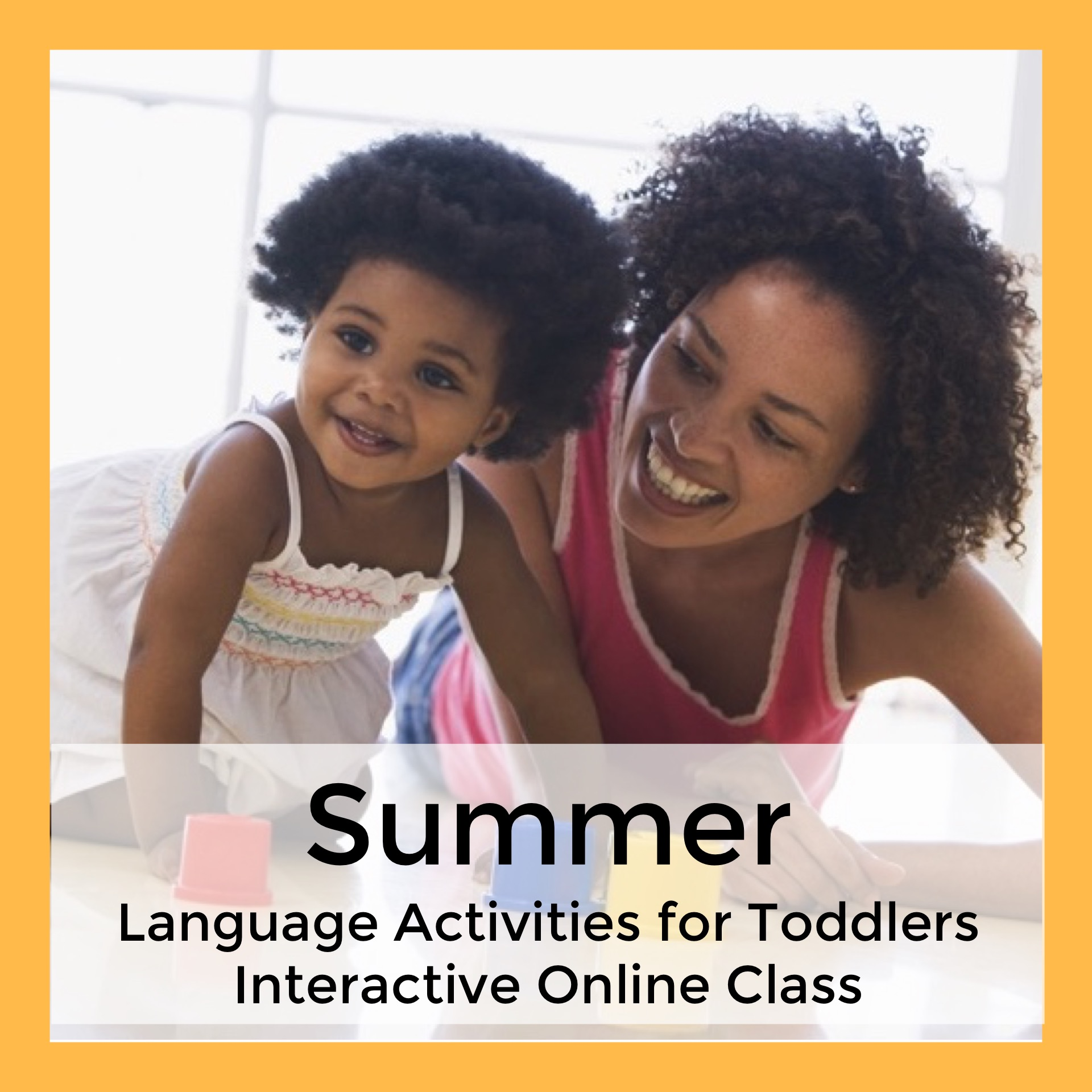 Summer Language Activities for Toddlers Interactive Online Class