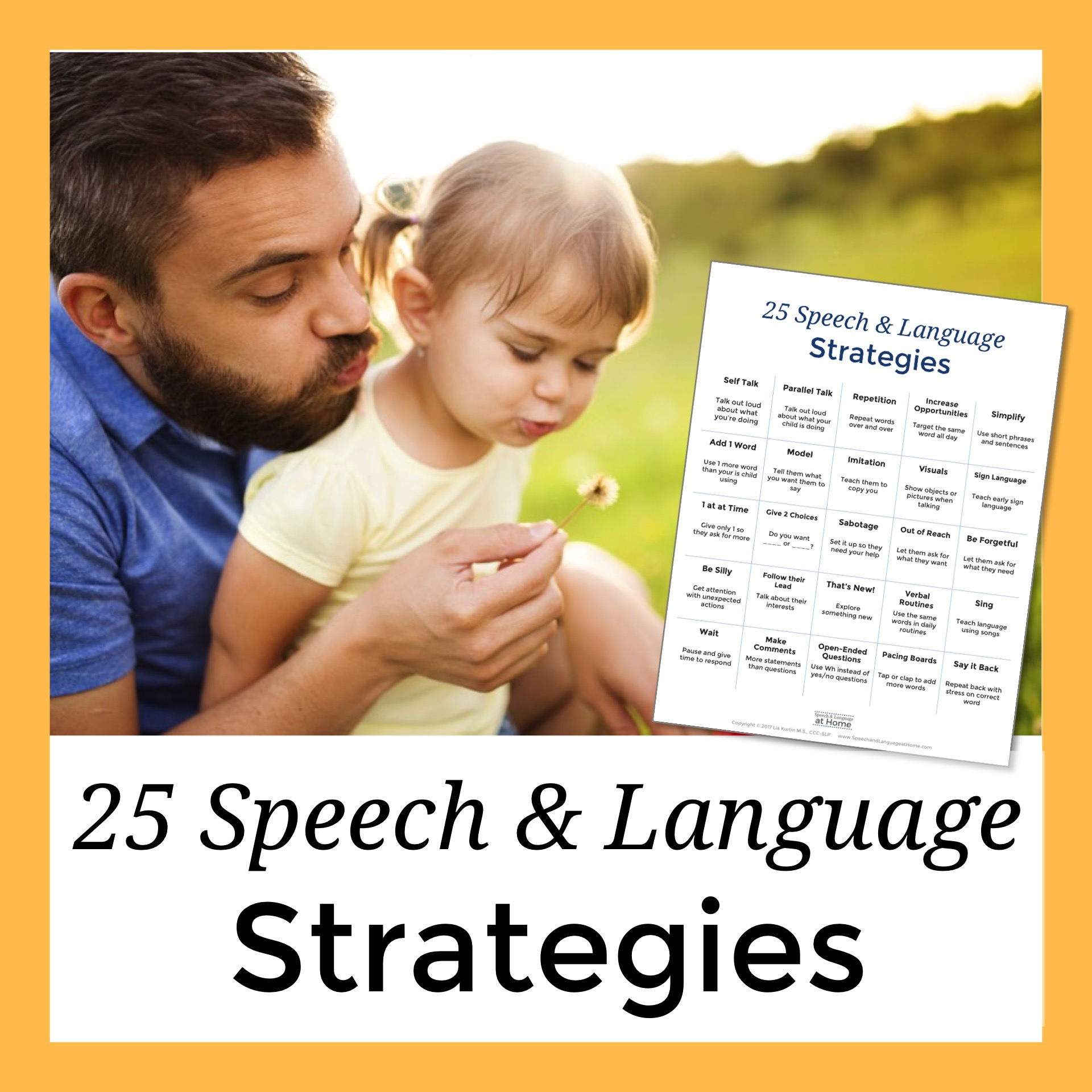 25 Speech and Language Strategies
