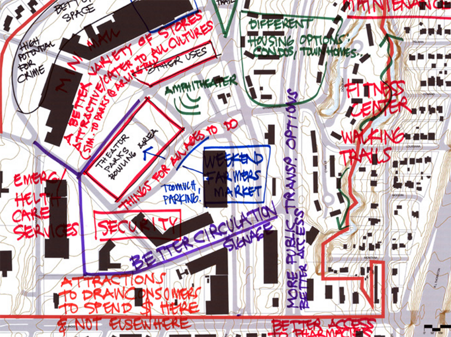 Notes from the 2014 Wynnewood Urban Design Strategy.