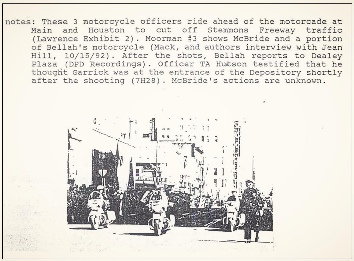Excerpt from  Presidential Motorcade Schematic Listing – Vaughan, Todd Wayne (1993).