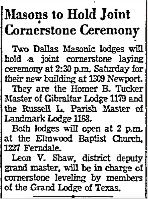 Dallas Morning News  – March 19, 1953