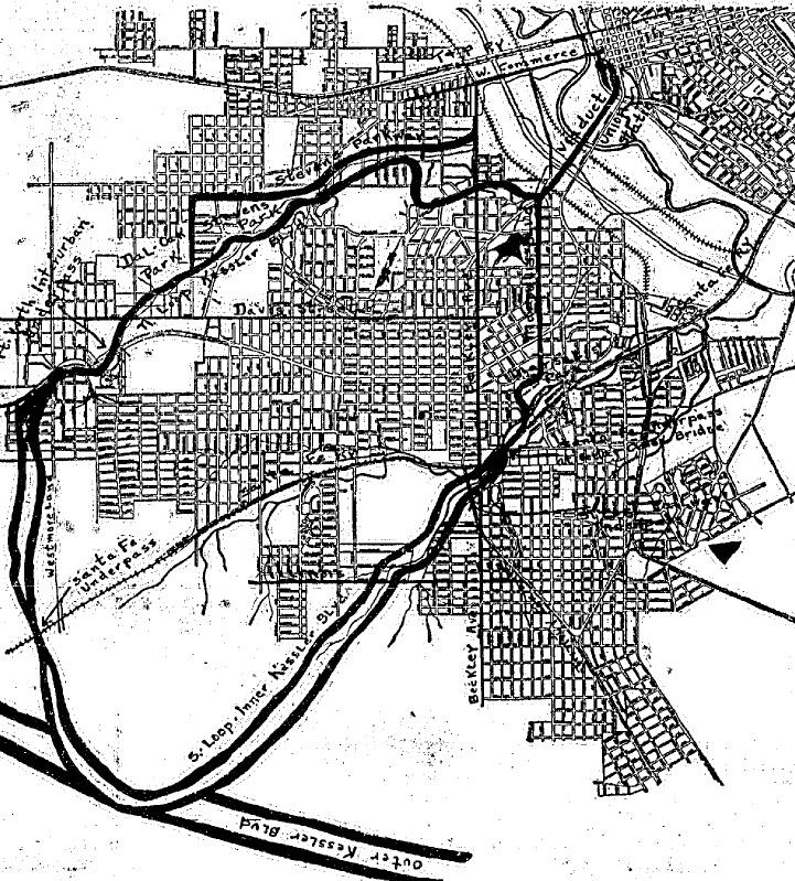 """""""Inner Kessler Boulevard Works Wins Ledbetter Recognition.""""  The Dallas Morning News  – June 16, 1928"""