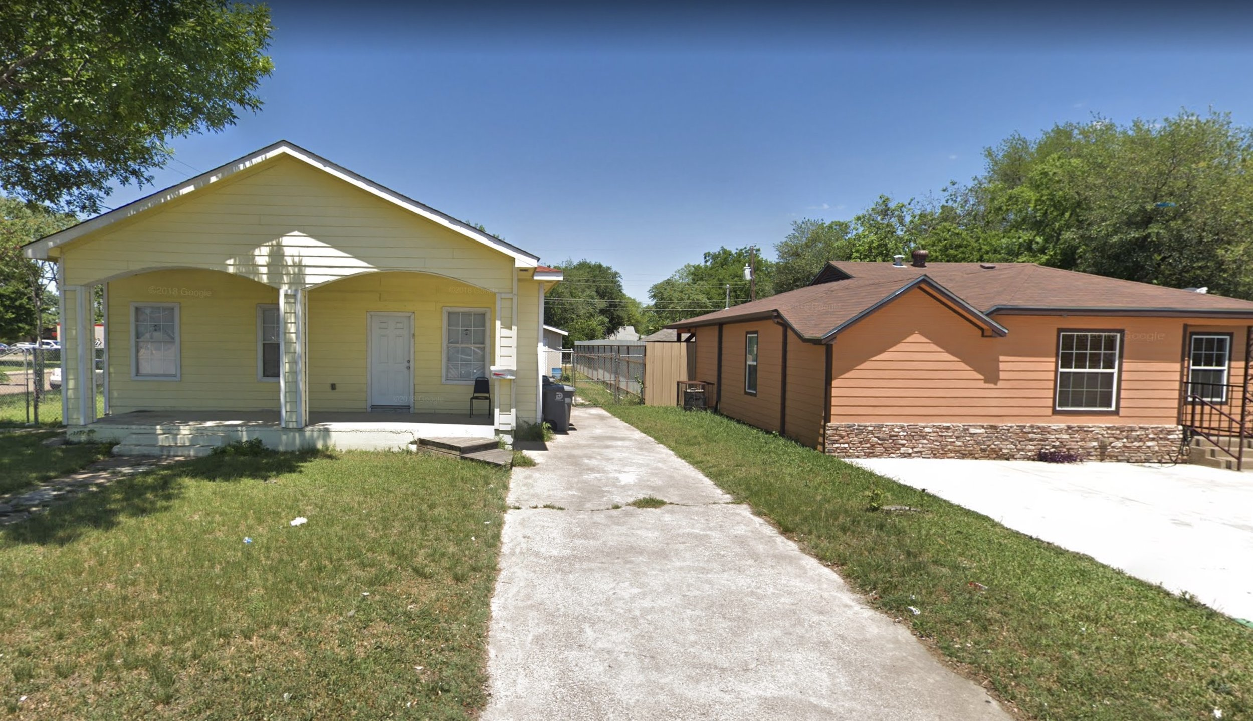 2219 W Illinois Ave, the yellow house on the left.
