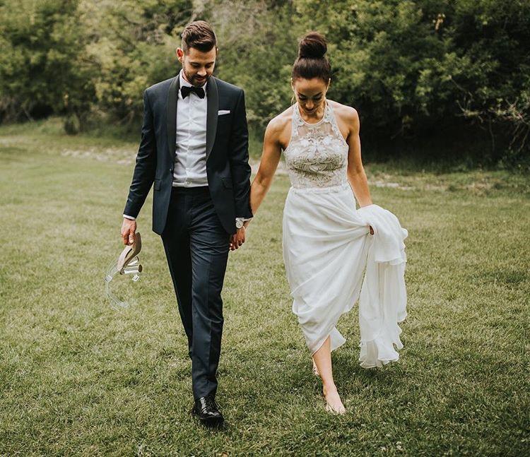 Marina Semone Maya gown Calgary wedding