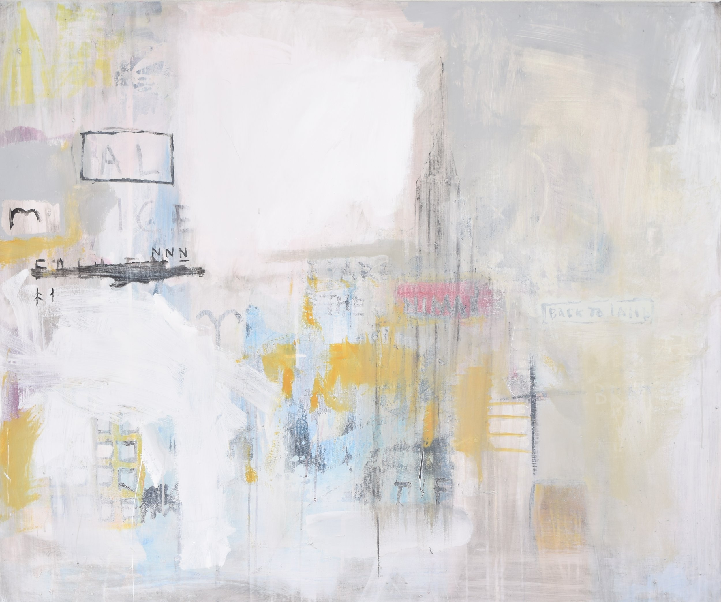 'MIRROR' 2015    Arylic, household and spray paint on canvas 100 x 120 x 4 cm