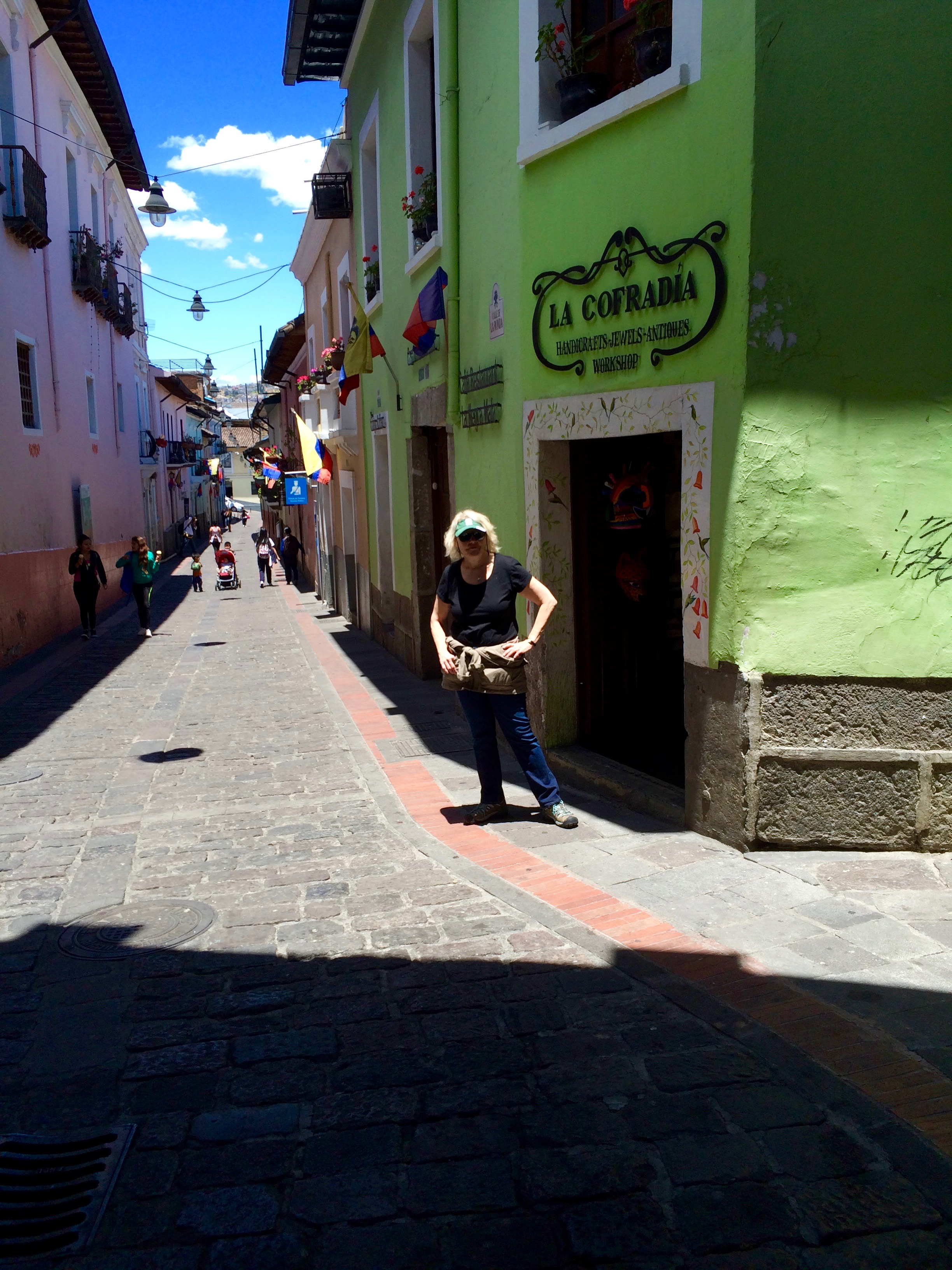 In Old Town Quito every street is a hill