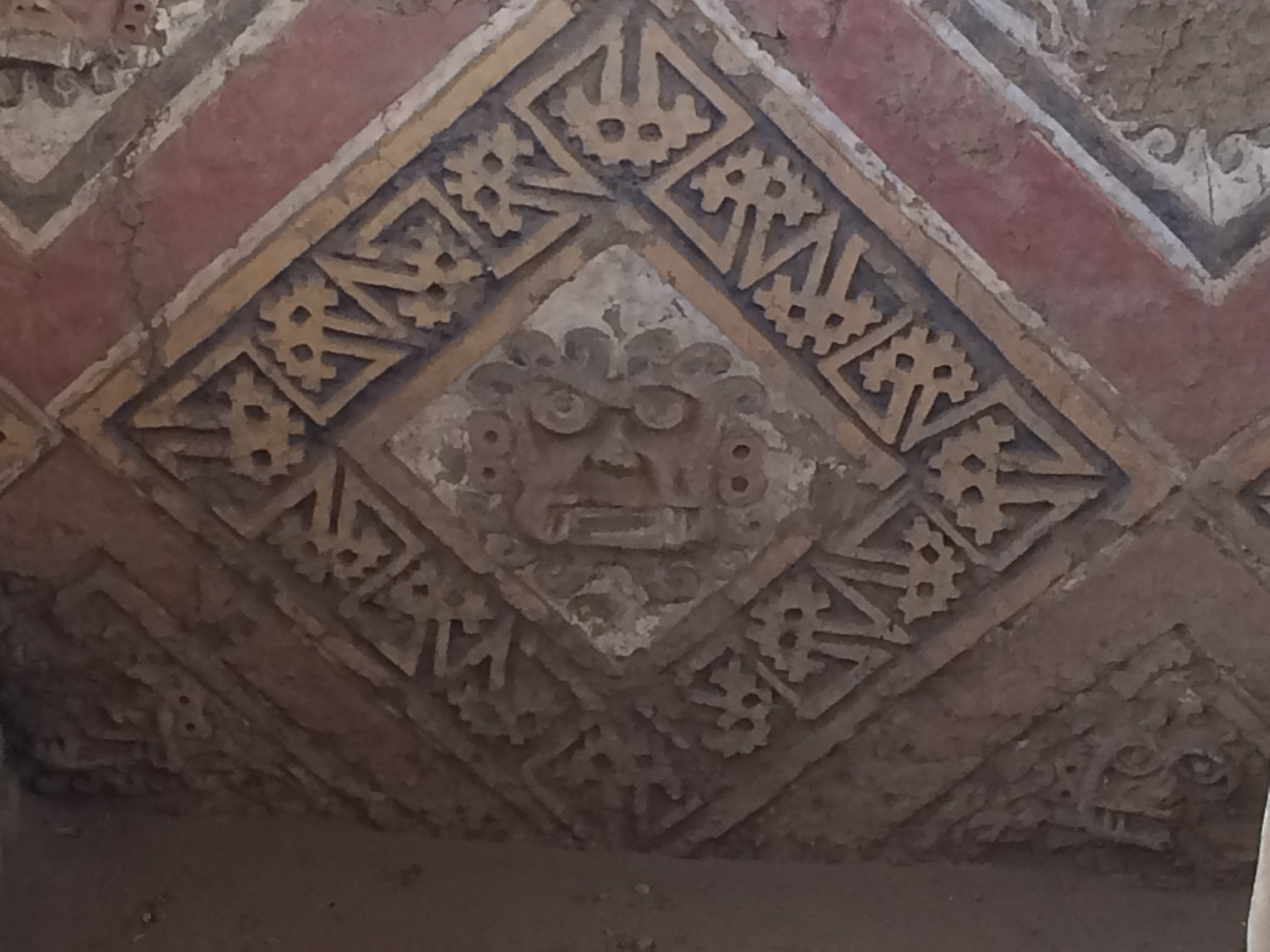 Close up of wall - a stern god