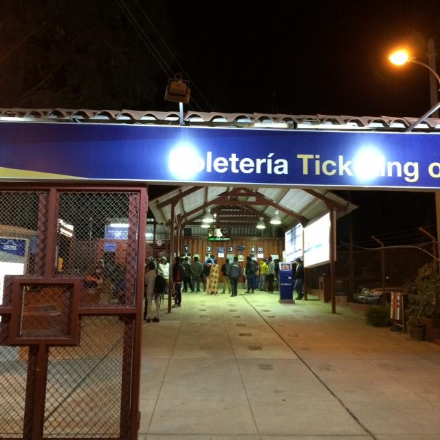 Train station at 4:30 am