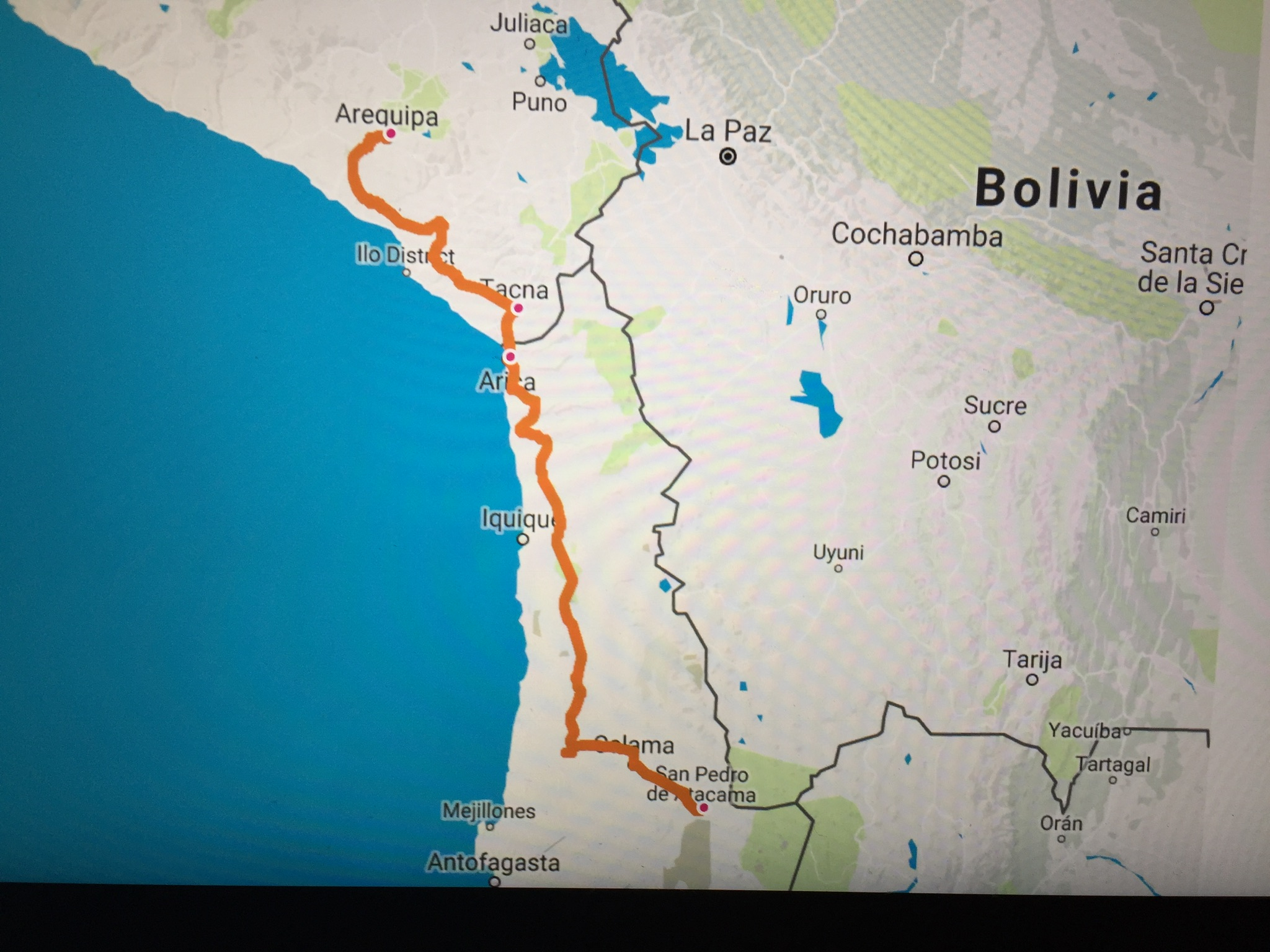 The route to Chile
