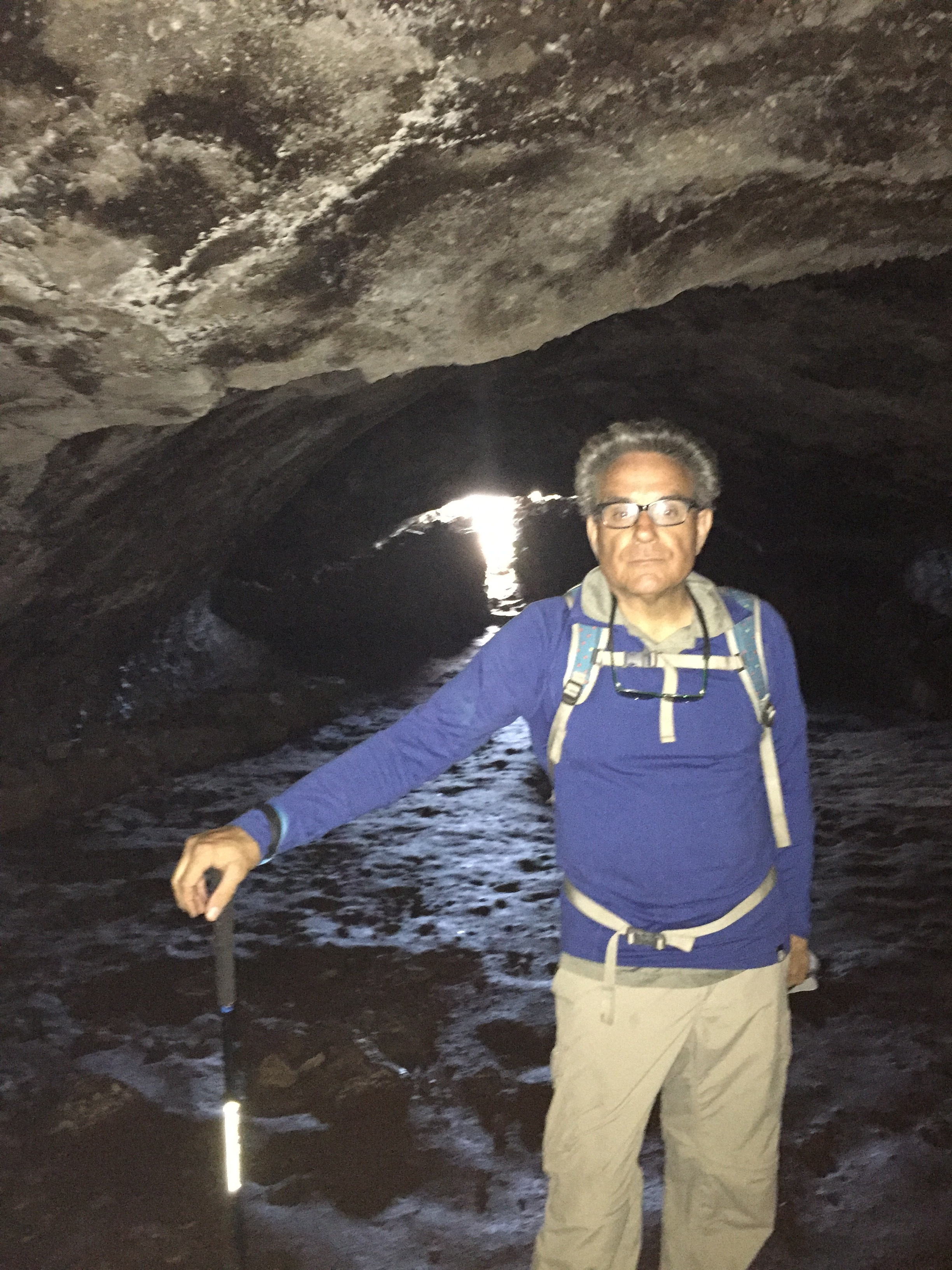 Frank in cave